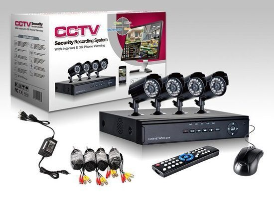 Wireless CCTV Camerabewaking Security Record System 4 Cameras!