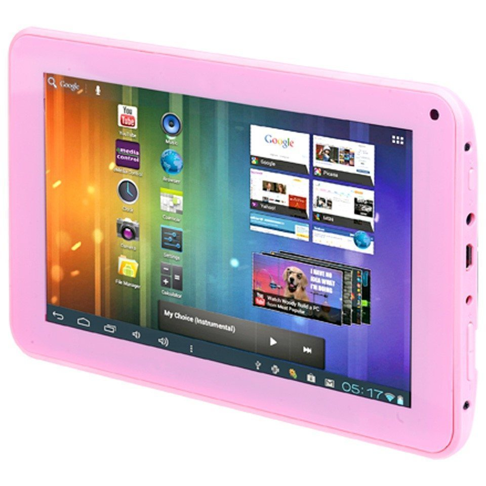 SHOWMODELLENVERKOOP!! Android 7 Inch Tablet Tabby Roze Met Camera+ Gratis Table Stand!