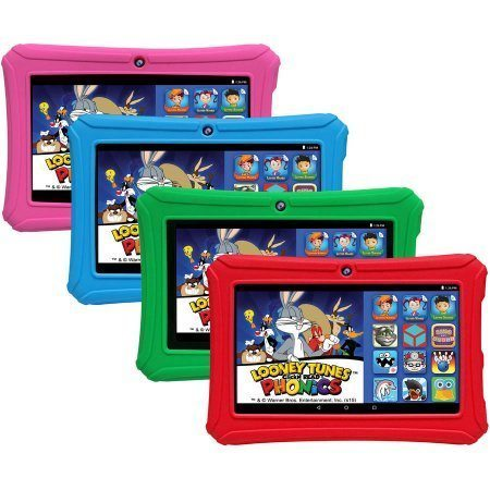JUNIOR 7 INCH ANDROID TABLET + KINDVRIENDELIJKE OMGEVING ROOD NIEUW!