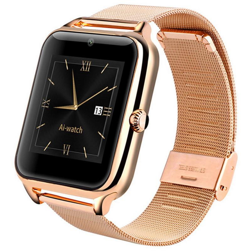 NEW ARRIVAL!! Z6 Smartwatch Smartwatch Simcard Bluetooth Goud!